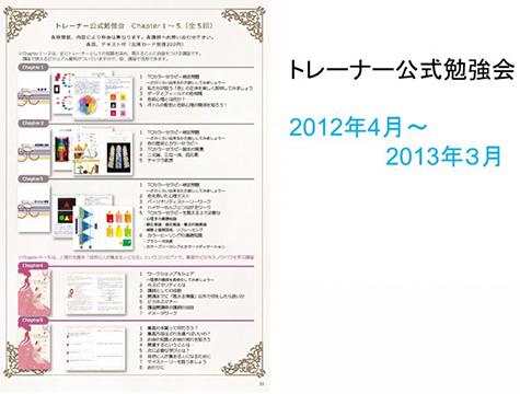トレーナー公式勉強会2012年4月~2013年3月